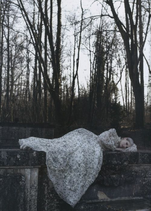 Marie Piovesan by Deborah Turbeville for Valentino Haute Couture - Vogue Italia , March 2012