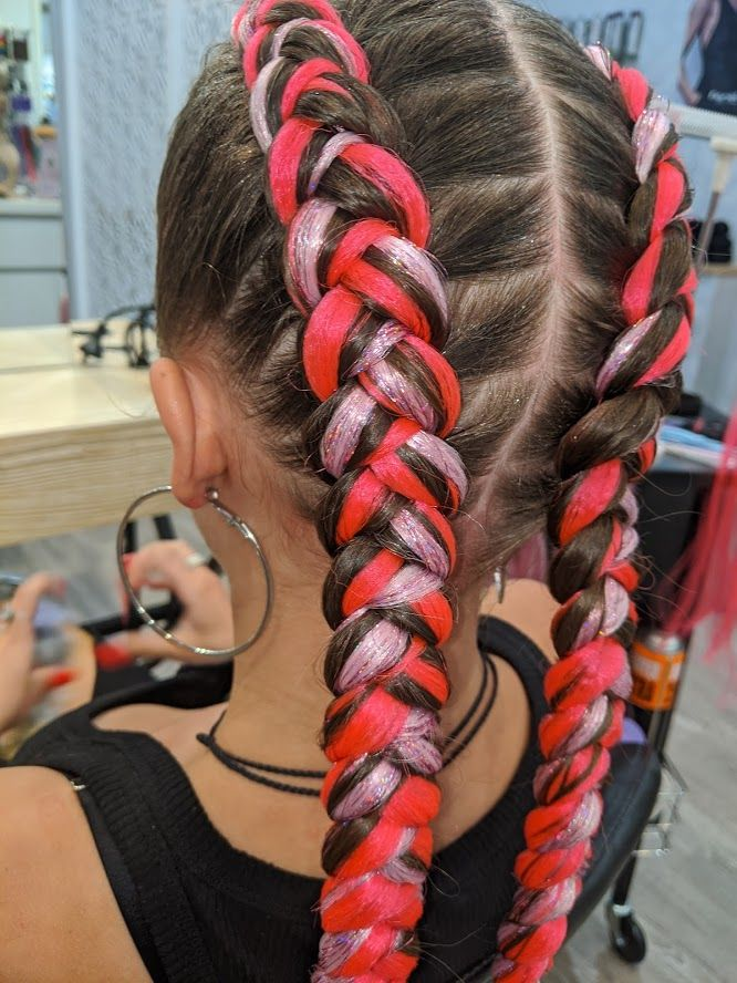 Glitter Dutch Braids Braids With Extensions Allure Hair Dutch Braid Hairstyles