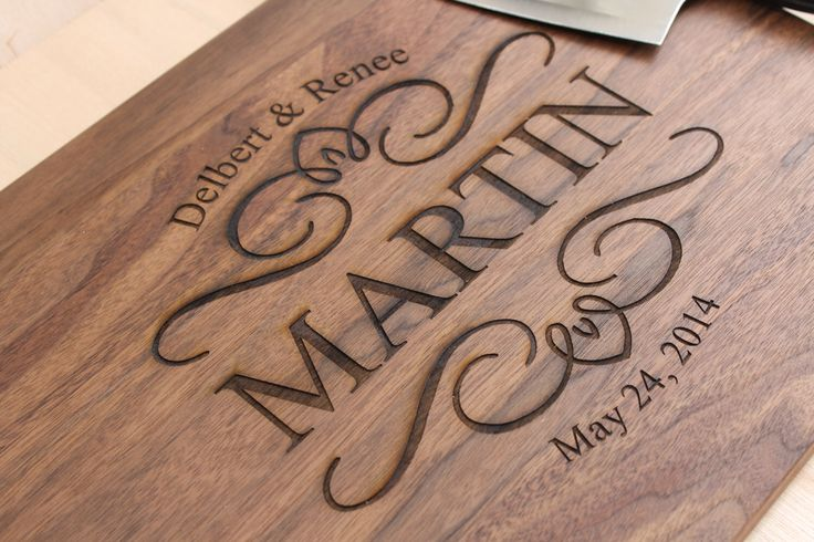 Personalized Cutting board, Custom cutting board, Custom Engraved cutting board, Walnut Wood - 11 x 14 --6228 by LetsEngraveIt on Etsy https://www.etsy.com/listing/195692395/personalized-cutting-board-custom