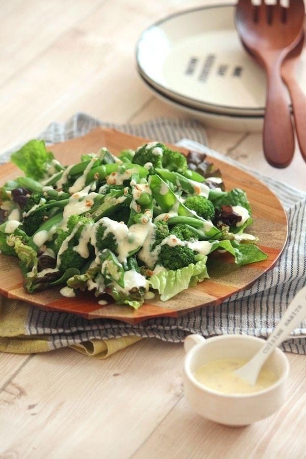 グリーン野菜のチーズソースサラダ。 by 栁川かおり | レシピサイト ...
