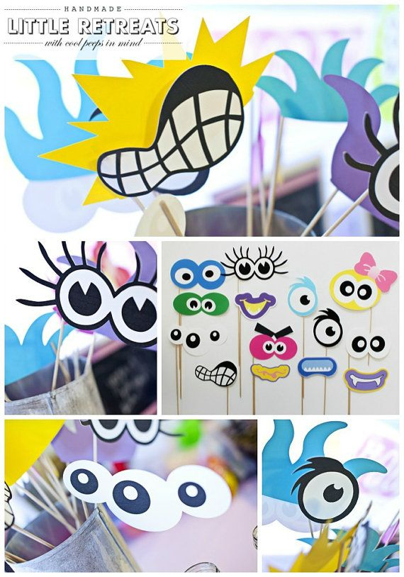 Monster Photo Booth Props. Monster Birthday by LittleRetreats