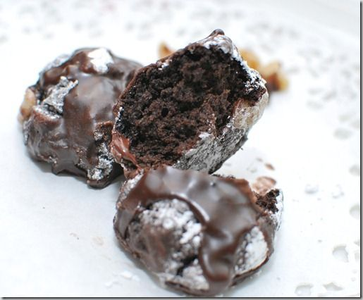 Chocolate Italian Cookie. Italian Cookie Recipes are the crown jewels of Italian confections. Get more info on different kinds of Italian cookies and Italian cookie recipes: http://www.cookie-elf.com/italian-cookie-recipes.html