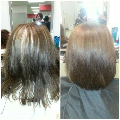Root touch up, Cut & style