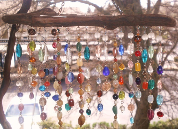 Garden Hanging/Wind Chime/Wood Chime Beads By Lightworksartworks, $35.00