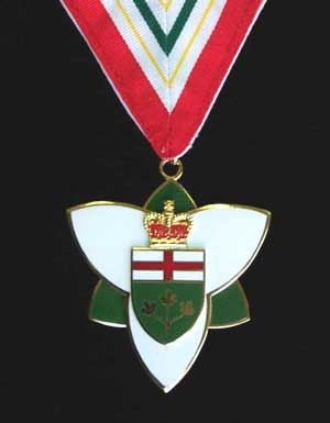 The Order of Ontario is the most prestigious official honour in the Canadian province of Ontario. Instituted in 1986 by Lieutenant Governor Lincoln Alexander, on the advice of the Cabinet under Premier David Peterson, the civilian order is administered by the Governor-in-Council and is intended to honour current or former Ontario residents for conspicuous achievements in any field.