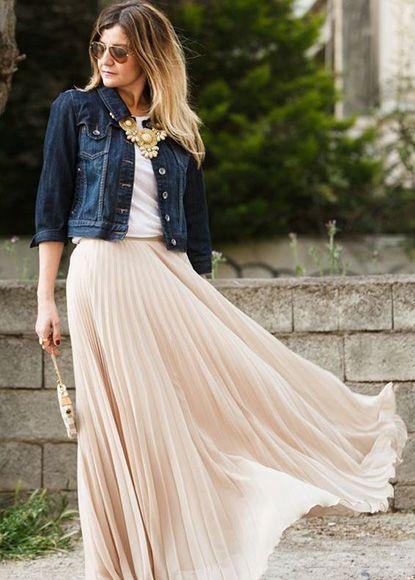 風に揺られてふんわりおしゃれ♡チュールプリーツスカートのモテコーデ一覧♡