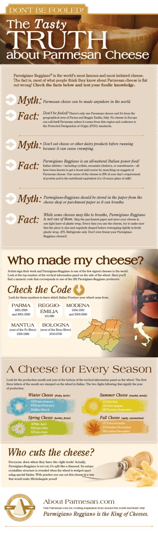 The Tasty Truth about Parmesan Cheese: Food, Parmesan Cheese, Truths, Don T, Tasty Truth, Cheese Infographic
