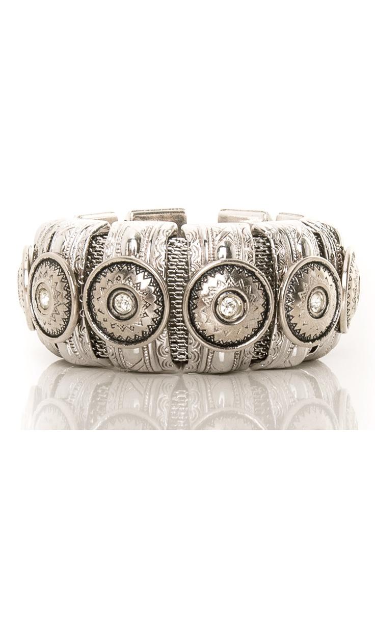 Nanni Bracelet - Metal Bangle with Swarovski details #accessories