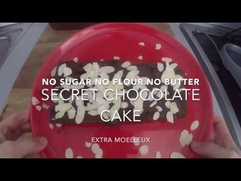 Cake secret au chocolat (sans farine, sans sucre, sans beurre)