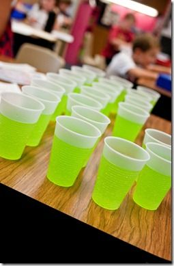 jitter juice- green hawaiian punch and sprite- use beginning of the year after reading The First Grade Jitters!