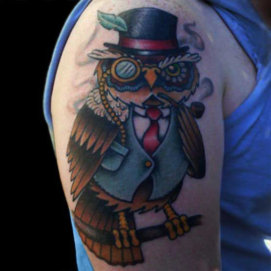 Mr owl. Tattoo