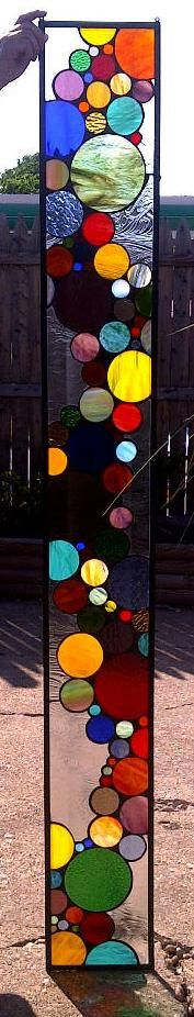Sidelight by Terraza Glass: Stained Glass Windows, Contemporary Bubbles, Art And Crafts, Window Panels, Stained Glasses Window, 525 00, Stained Glasses Sidelight, Circles Stained, Bubbles Sidelight