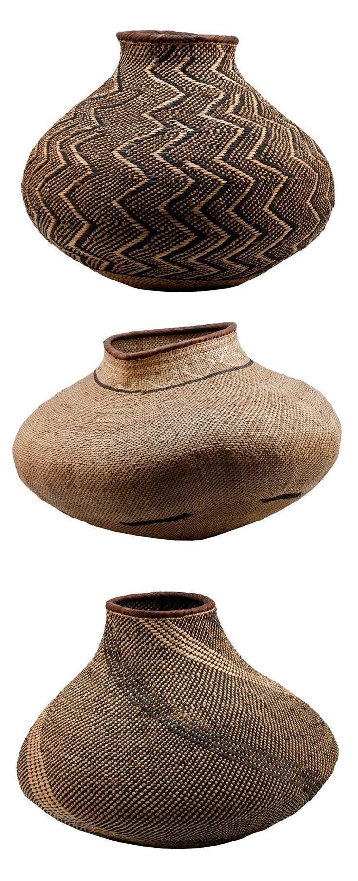 BaTonga Nongo (pot) baskets, Zimbabwe
