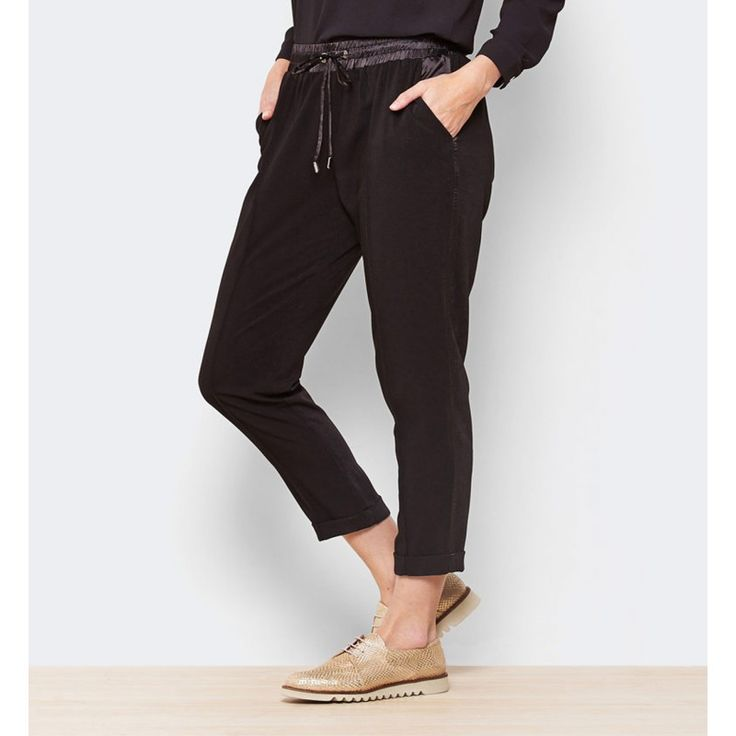 Pantalón  jogging seda negro
