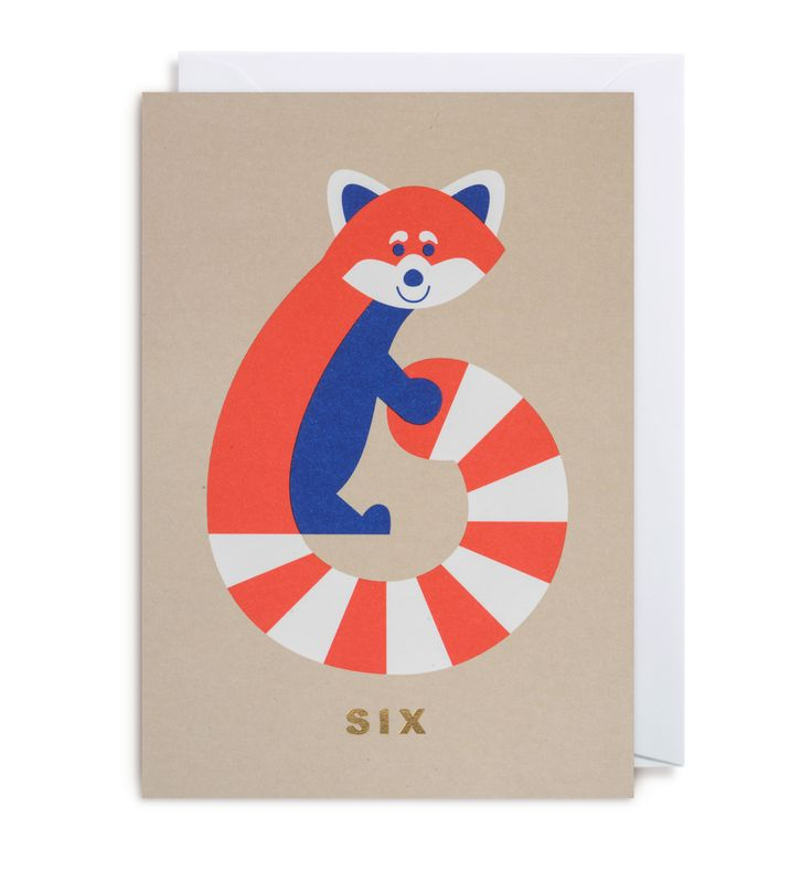 NUMBER SIX RED PANDA by Cozy Tomato for Lagom Design UK