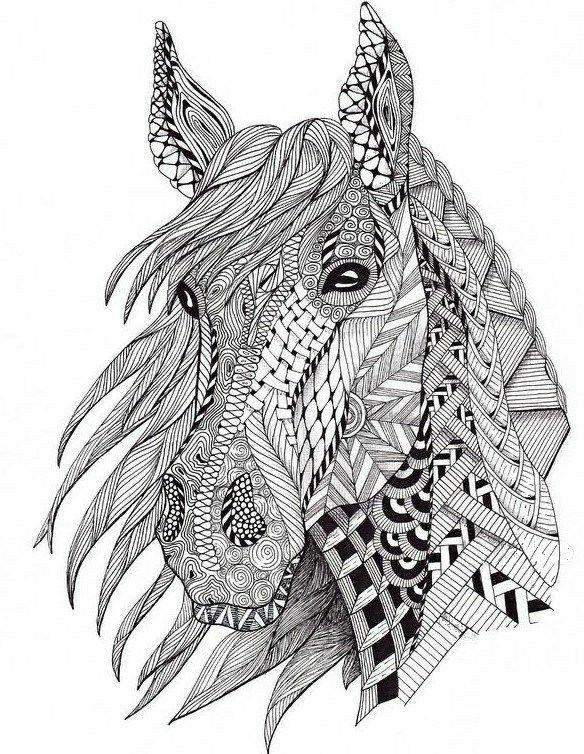 Pin Von Yolanda Auf Horse Malvorlagen Pferde Mandala Tiere Ausmalbilder