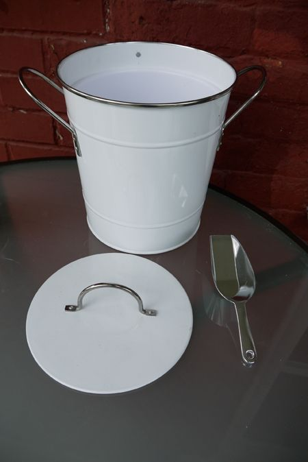 compost pail: Grab a galvanized ice bucket with lid (found in bbq aisle at grocery store) and a cat litter box air filter from pet aisle. Total cost $8