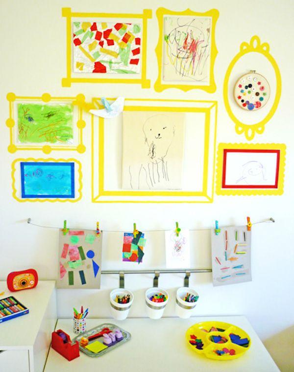 decorar paredes con los dibujos de los nios