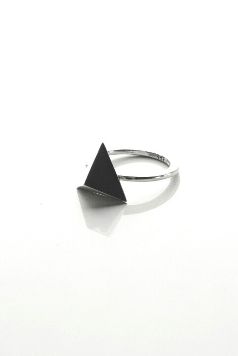 Pyramid Triangle Ring by Miss Wee