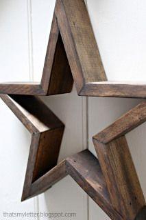 Build a star for christmas decor / Byg en fin stjerne til julehygge dekorationen, hent tegning og se flere billeder