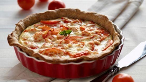 Tærte med skinke og tomater