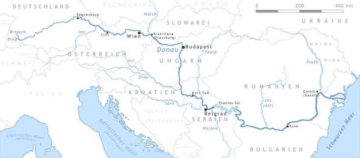 Donau-Karte - Porte di ferro
