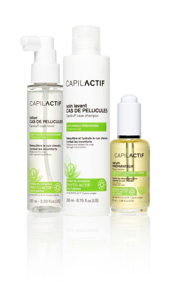 Linea Capilactif anti-forfora : Protocollo per eliminare in modo permanente la forfora.  Siero preparatore Shampoo anti-forfora Lozione spray anti-forfora