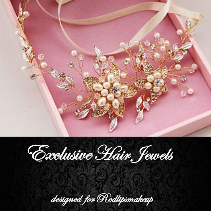Exclusive Hair Jewels designed for Redlipsmakeup Accessori capelli sposa originali personalizzabili fatto a mano hand Made