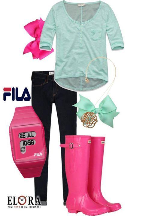 Rainy Look of the day today!!!! Φούξια ρολοι FILA!! Δείτε την νέα ανοιξιάτικη συλλογή FILA! Βρείτε ένα εξουσιοδοτημένο συνεργάτη μας δίπλα σας!!! #fila #filawatches #filafashion #springstyle #filacollection #elora #elorawatches #watches