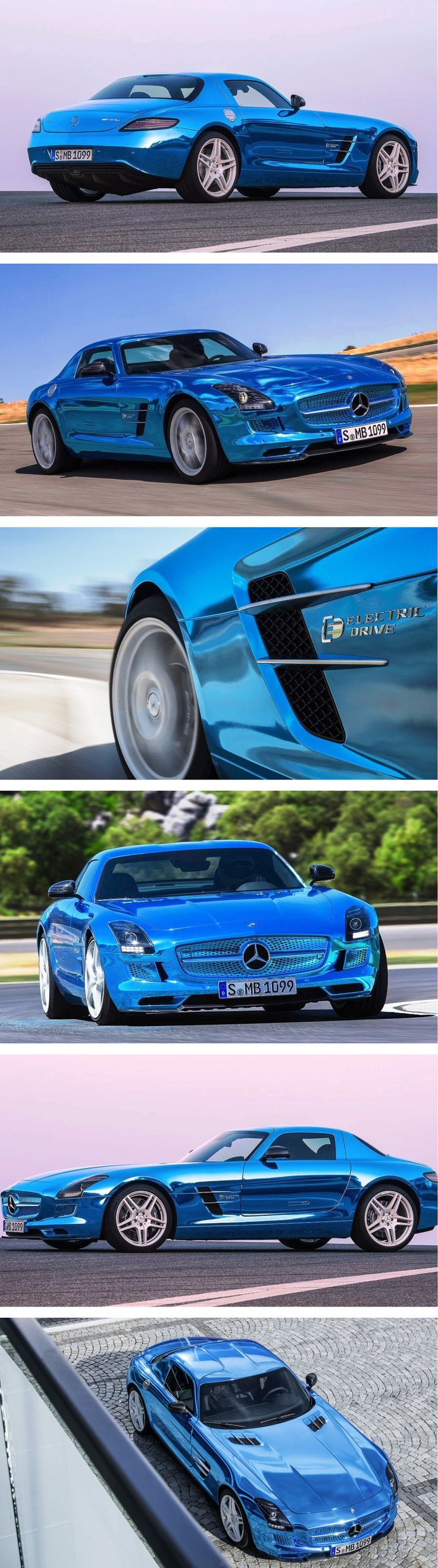 The world's most powerful (and expensive) electric production car: Mercedes-Benz SLS AMG Electric Drive. Click for the future...