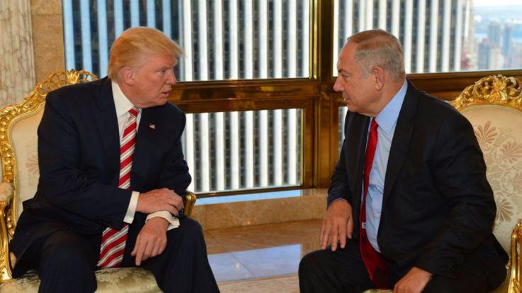 trumpnetanyahu  les deux fouteur des troubles dans le monde (crimes contre les peuples de pays souverains) les neocons des usa aide les sionistes a occuper la palestine  ou est le droit  ?