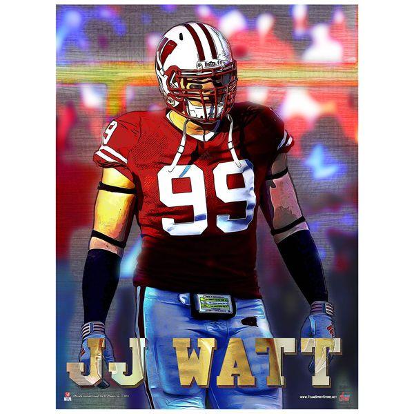 J.J. Watt Wisconsin Badgers Stylized Football Poster - $12.99