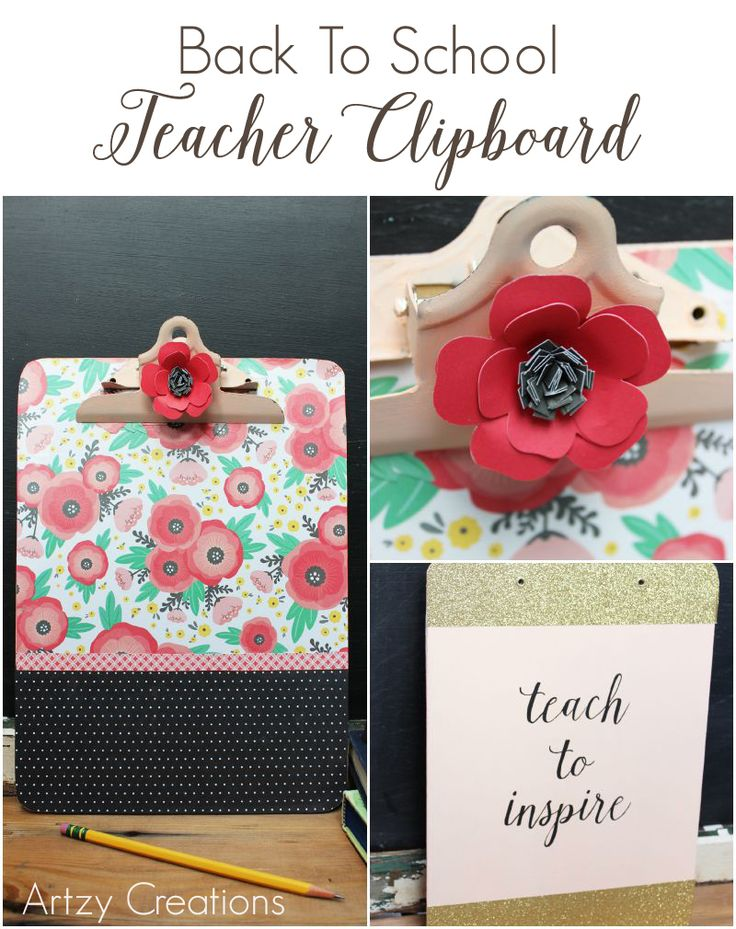 Back To School Teacher Clipboard from MichaelsMakers Artzy Creations