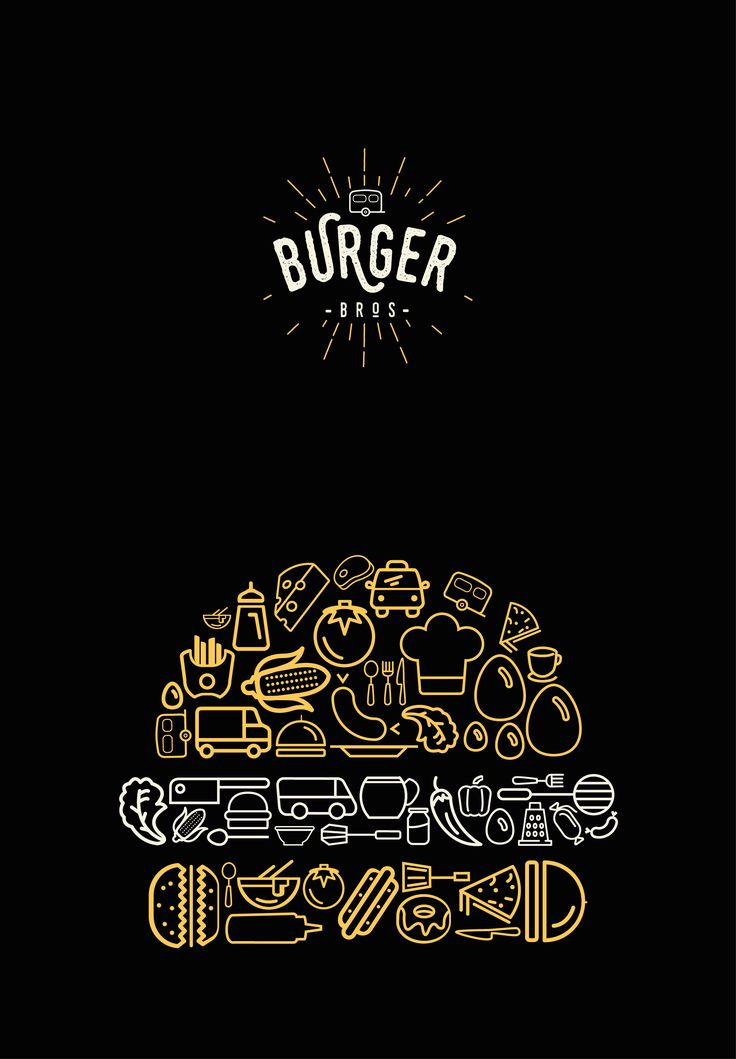 Burger Bro's food truck are touring the UK and need a new look for their logo and identity. They would like a strong and simple brand, that reflects their homemade American burgers and fries! Create a brand style tile to showcase a new logo and accompanyi…