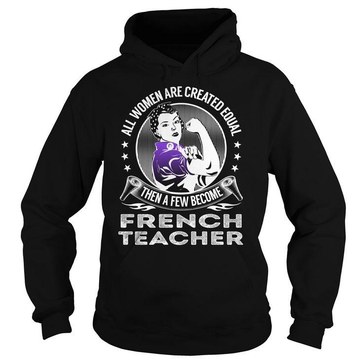 Become French Teacher Job Title TShirt