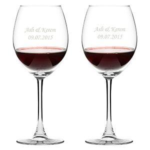 Kişiye Özel İkili Şarap Kadehi - 39,90 TL #doğumgünühediyeleri