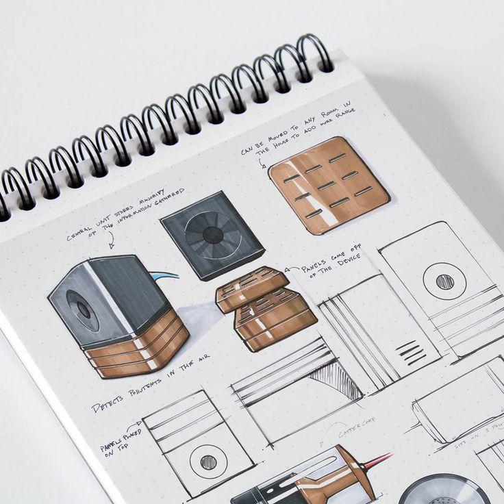 Concept sketches for my last school project. #touchmarker #sketching increíble boceto de tajador