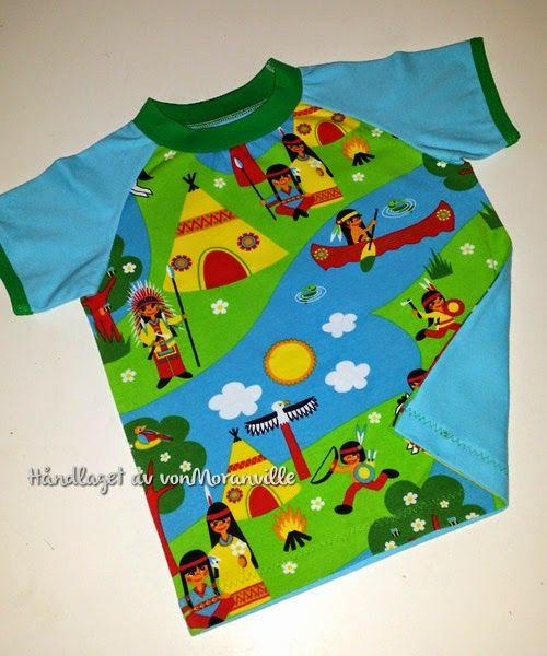 T-skjorte med raglanarm til sommeren. Lillestoff / Summer T-shirt. Fabric from Lillestoff