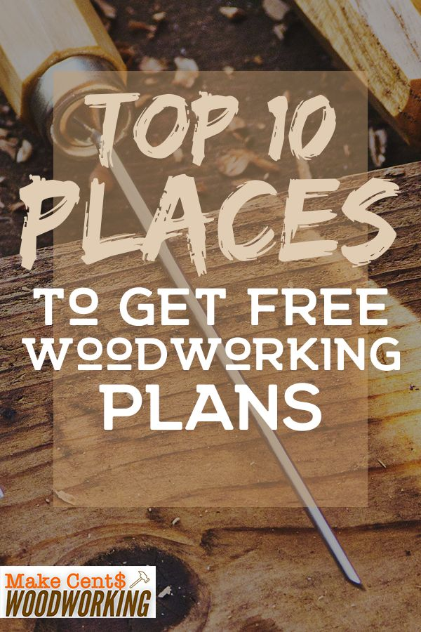 Need free diy Woodworking Plans? If you want to do some DIY woodworking projects...