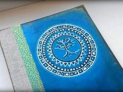 Maľovaný diár Mandala strom života