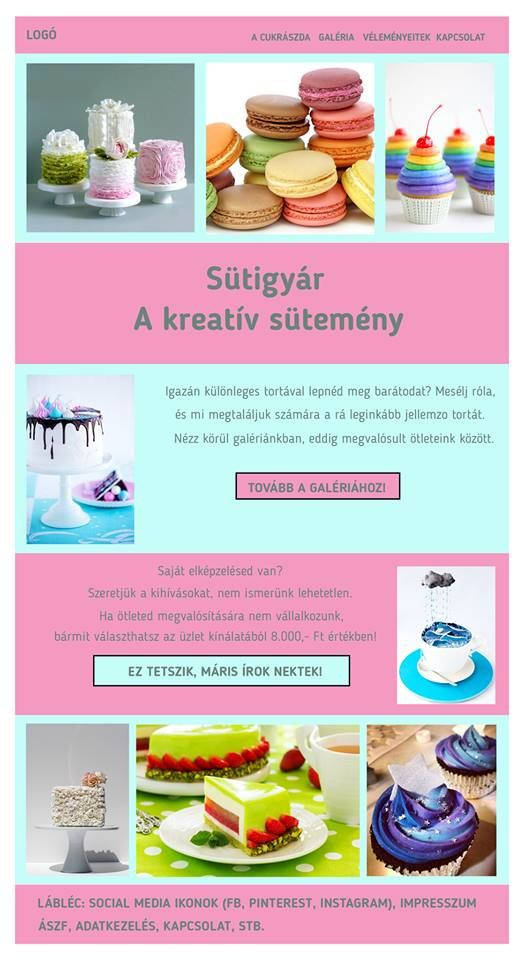 Nyíri Andi sütis honlap | Kreatív Webdesign Tanfolyam