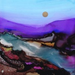 Dreamscape No. 91, 5x5 SOLD  June Rollins Artist