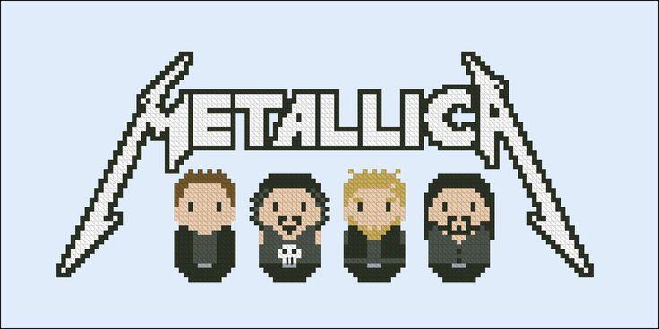Metallica rock/metal band - Music - Mini People - Cross Stitch Patterns - Products
