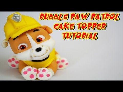 RUBBLE PAW PATROL CAKE TOPPER FONDANT - BULL DOG PASTA DI ZUCCHERO TORTA TUTORIAL - YouTube