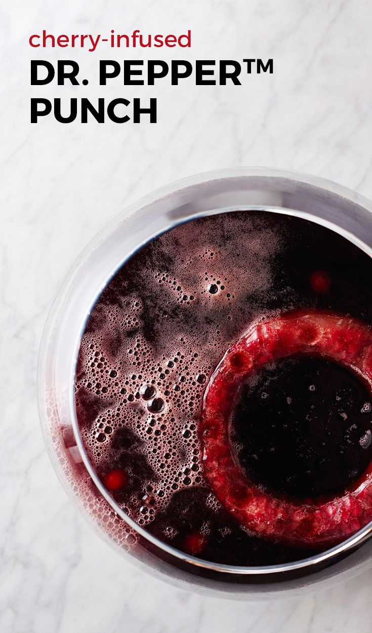 This cherry-infused punch pops with Dr. Pepper™ flavor! (See what we did there?) Since it's non-alcoholic, this is a drink everyone can share! Perfect for summer get-togethers.