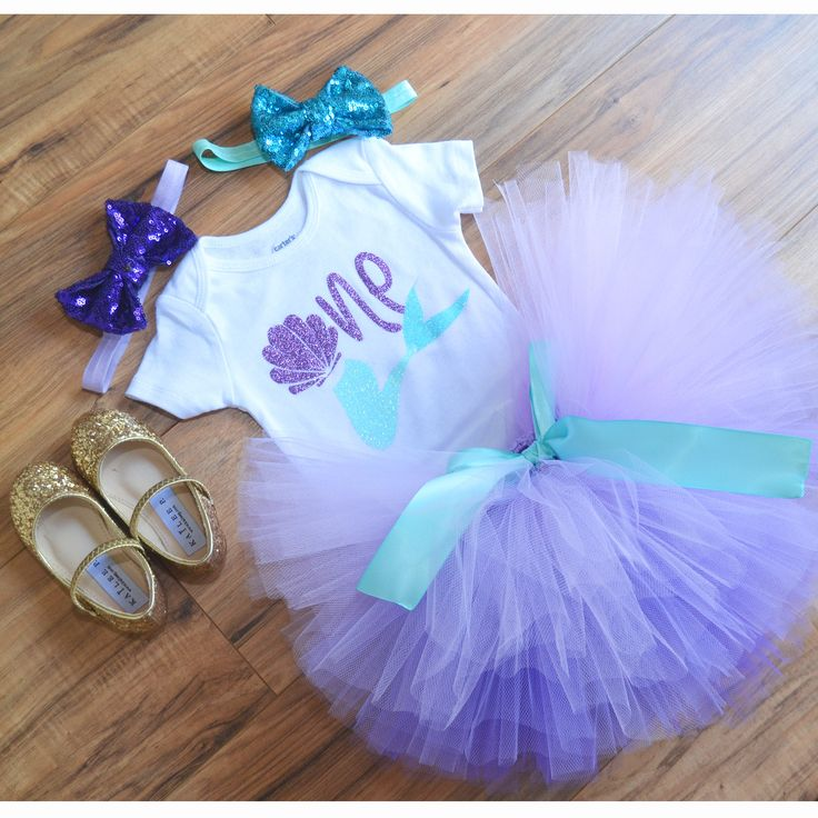 Little Mermaid Costume, Little Mermaid Tutu, Little Mermaid First Birthday, Little mermaid theme, Under the sea theme, Purple Ombre tutu. by GabyRobbinsDesigns on Etsy