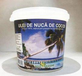 Ulei de cocos - 1000 ml - se poate folosi atât în cosmetică, cât și la gătit.