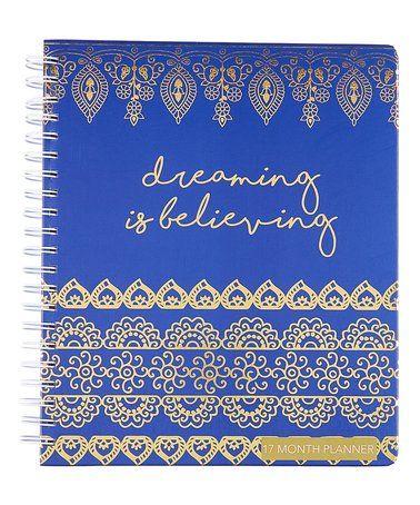 Love this 'Dreaming Is Believing' Spiral-Bound Planner on #zulily! #zulilyfinds