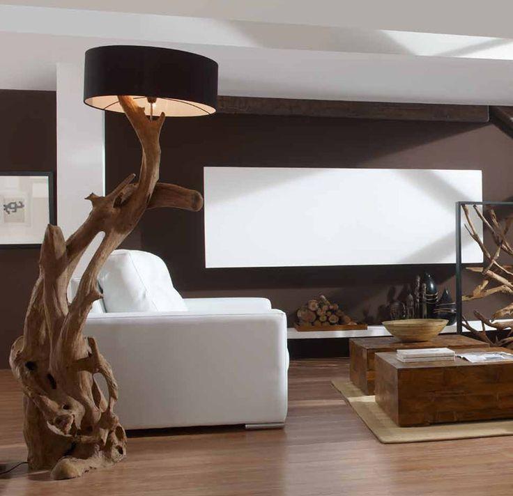 Lamparas Naturales RAICES RUSTICAS XL. Ilumianción Beltran, tu tienda online en lámparas de madera naturales.