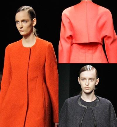Calvin Klein, Hombros redondeados en vestidos y chaquetas